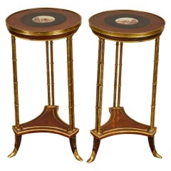 Pair of 18th Century French Neoclassical Micromosaic Gueridon Side Tables