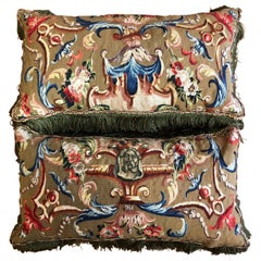 Pair of 18th Century French Tapestry Cushions