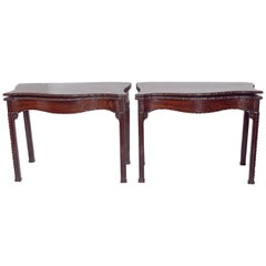 Pair of 18th Century George III Mahogany Card Tables