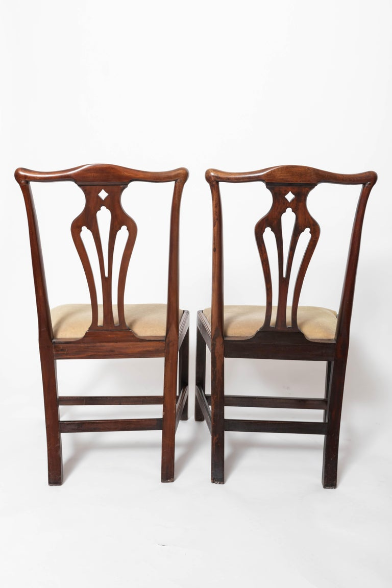Pair of 18th Century George III Mahogany Side Chairs In Good Condition For Sale In East Hampton, NY