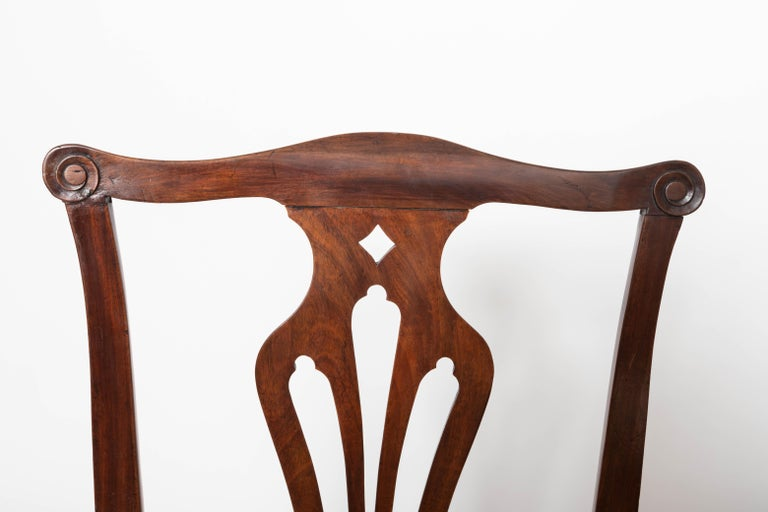 Late 18th Century Pair of 18th Century George III Mahogany Side Chairs For Sale