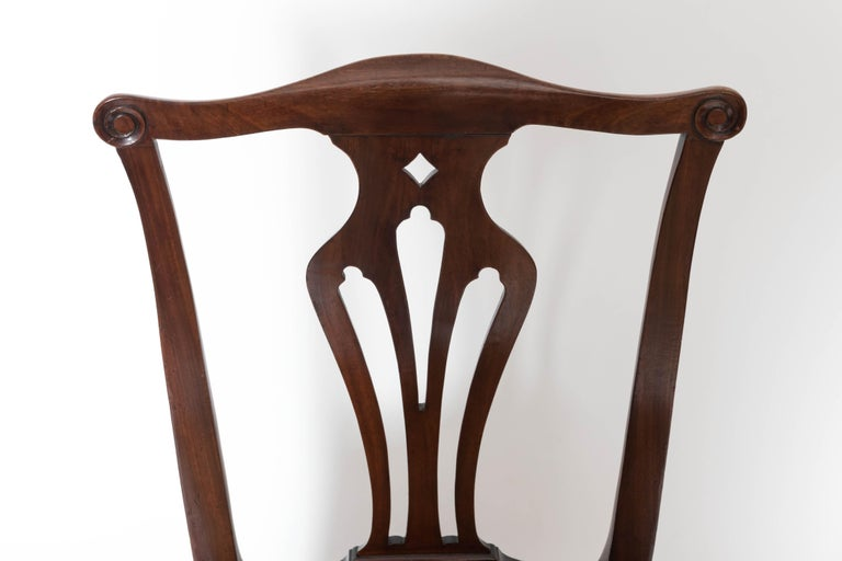 Pair of 18th Century George III Mahogany Side Chairs For Sale 2