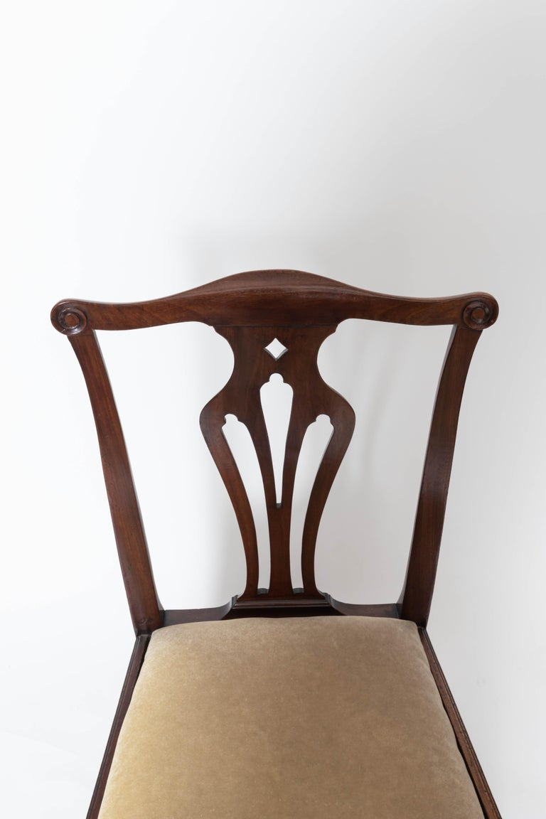 Pair of 18th Century George III Mahogany Side Chairs For Sale 3