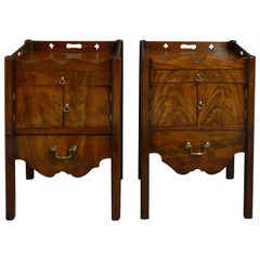 Pair of 18th Century George III Period Mahogany Bedside Cabinets