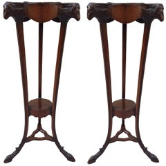 Pair of 18th Century Georgian Mahogany Pedestals