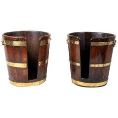 Pair of 18th Century Georgian Mahogany Plate Buckets