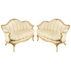 Pair of 18th Century Hepplewhite Influenced Sofas