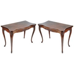 Pair of 18th Century Hepplewhite Mahogany Card Tables, circa 1780