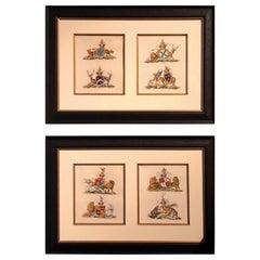 Pair of 18th Century Heraldic Prints