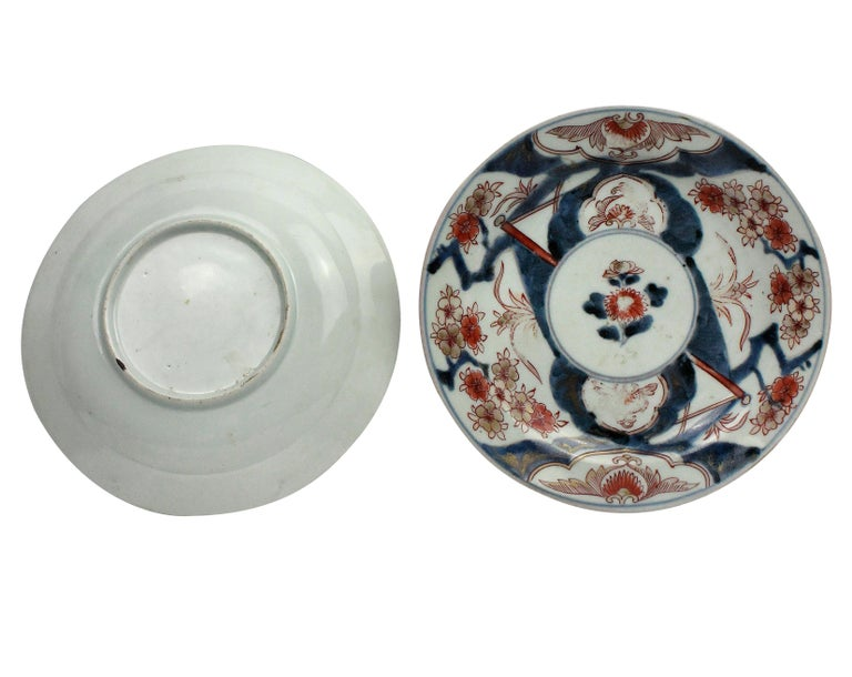 Japanese Pair of 18th Century Imari Plates