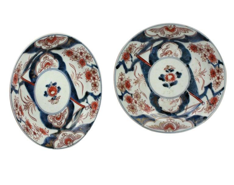 Pair of 18th Century Imari Plates In Good Condition In London, GB