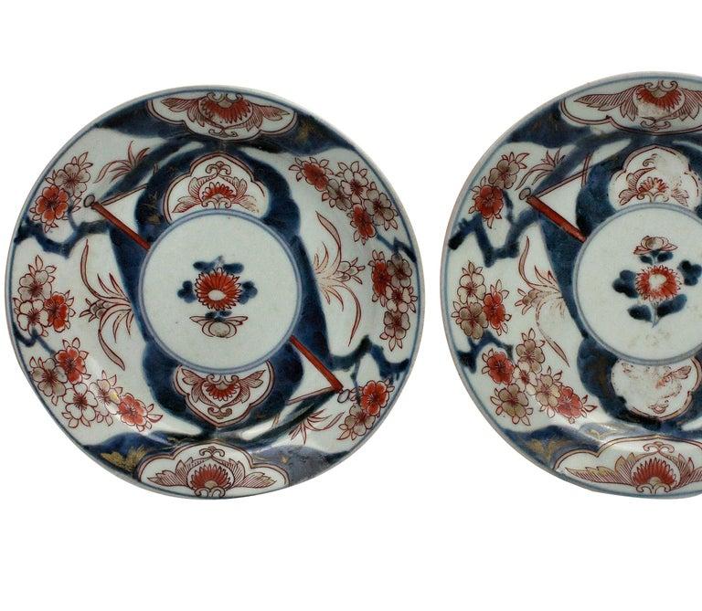 Late 18th Century Pair of 18th Century Imari Plates