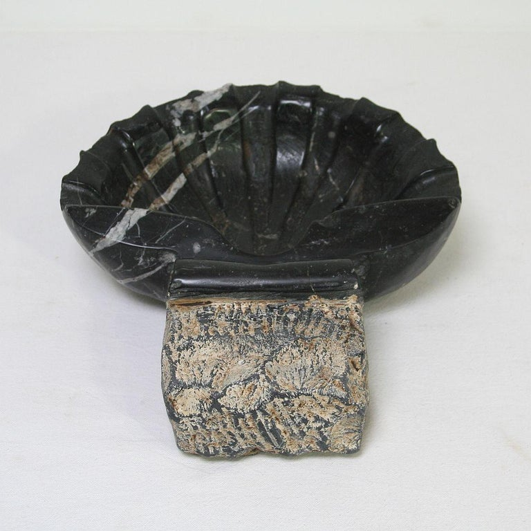 Pair of 18th Century Italian Baroque Black Marble Holy Water Fonts or Stoups For Sale 13