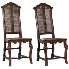 Pair of 18th Century Italian Caned Side Chairs