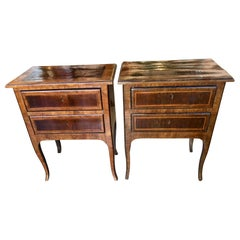 Pair of 18th Century Italian Commodinis, Side Tables, Stands