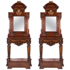 Console Tables with Matching Mirrors, Italian circa 1750 (Pair)