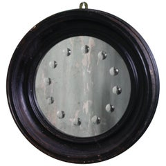 Pair of 18th Century Italian Ebonized Sorcerers Mirrors Convex