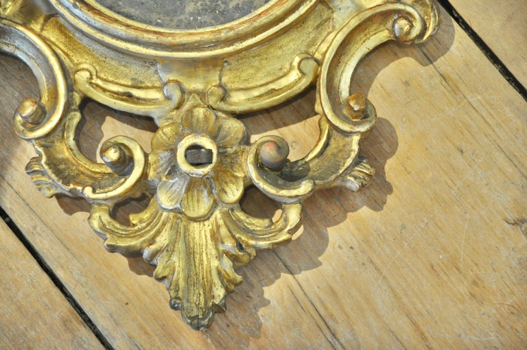 Rococo Pair of 18th Century Italian Gilt Mirrors