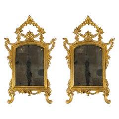 Pair of 18th Century Italian Gilt Mirrors