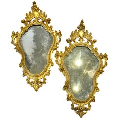Pair of 18th Century Italian Gilt Mirrors