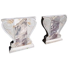 Pair of 18th Century Italian Marble Table Base Legs