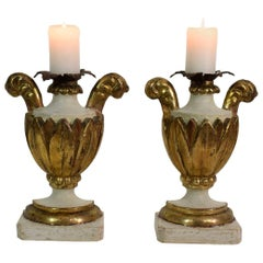 Pair of 18th Century Italian Neoclassical Altar Candleholders