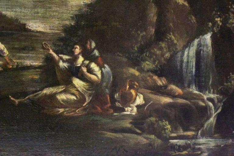 Pair of 18th Century Italian School Oil on Canvas Paintings For Sale 6