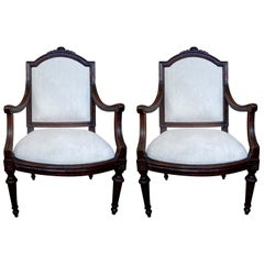 Pair of 18th Century Italian Walnut Chairs