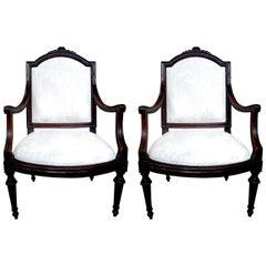 Pair of 18th Century Italian Walnut Chairs