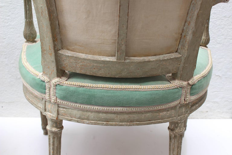 Pair of 18th Century Louis XVI Fauteuils Attributed to Georges Jacob For Sale 8