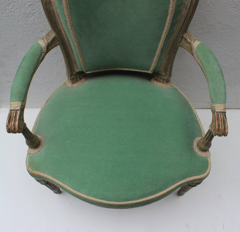 Pair of 18th Century Louis XVI Fauteuils Attributed to Georges Jacob For Sale 11