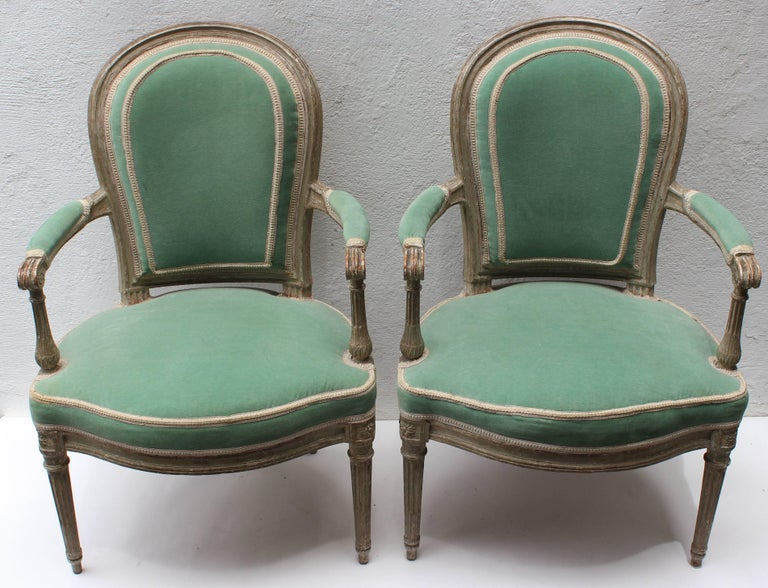Pair of 18th Century Louis XVI Fauteuils Attributed to Georges Jacob In Excellent Condition For Sale In East Hampton, NY