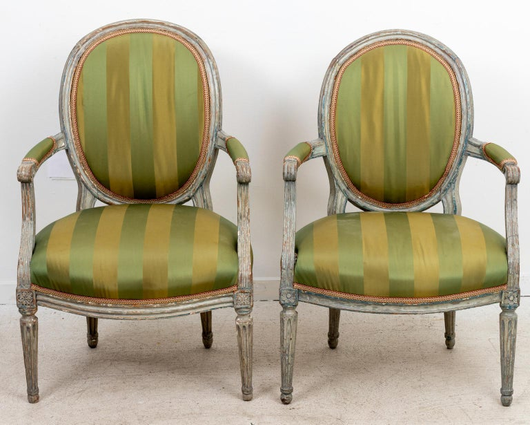 Pair of 18th Century Louis XV Style Armchairs For Sale 1