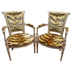 Pair of 18th Century Louis XVI Painted Armchairs