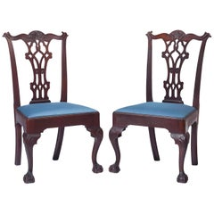 Pair of 18th Century Mahogany Chippendale Side Chairs
