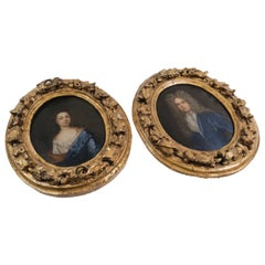 Pair of 18th Century Miniature Portraits of Ludwig I and Theresa