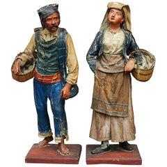 Pair of 18th Century Neapolitan Paper Mâché Figures