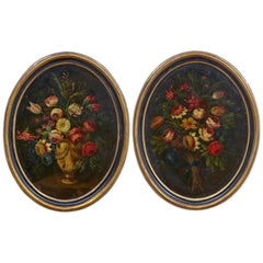 Pair of 18th Century Oil Paintings by Gasparo Lopez Still Life