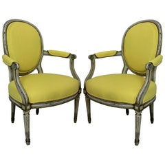 Pair of 18th Century Painted Armchairs