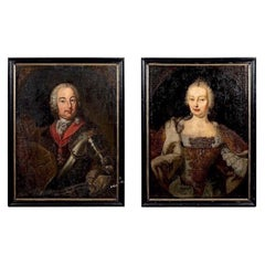 Pair of 18th Century Portraits of Emperor Francis I and Empress Maria Theresa