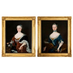 Pair of  Portraits of Ladies, European, Early 18th Century