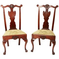 Paar Beistellstühle 18. Jahrhundert Queen Anne