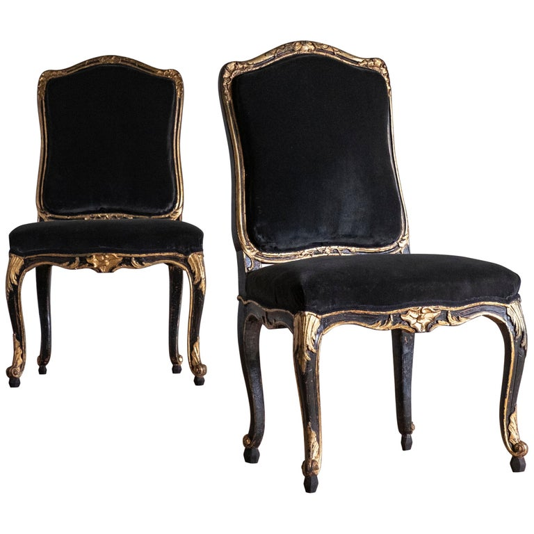 Pair of 18th Century Rococo Chairs For Sale