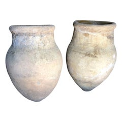 Pair of 18th Century Spanish Terracotta Olive Jars