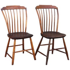 Pair of 18th Century Step Down Windsor Chairs