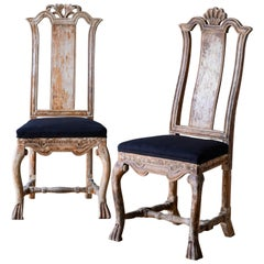 Pair of 18th Century Swedish Baroque Chairs