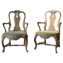 Pair of 18th Century Swedish Roccoco Armchairs