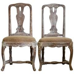 Pair of 18th Century Swedish Rococo Chairs
