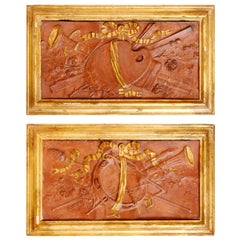 Pair of 18th Century Terracotta Trophy Reliefs