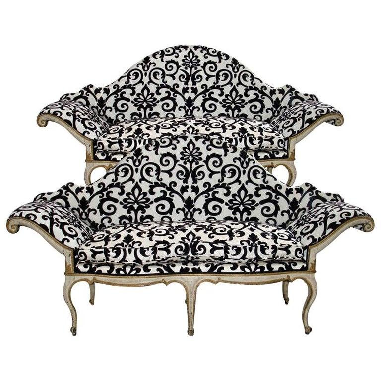 Pair of 18th Century Venetian Sofas For Sale